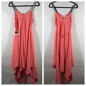 Jessica Simpson Maternity Coral Maxi Dress